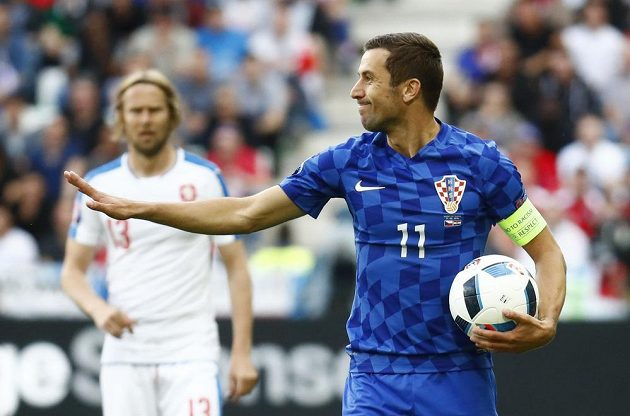 Chorvat Darijo Srna zasáhl do utkání s Českem krátce po smrti svého otce.