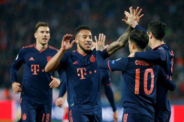 Radost v podání fotbalistů Bayernu Mnichov.
