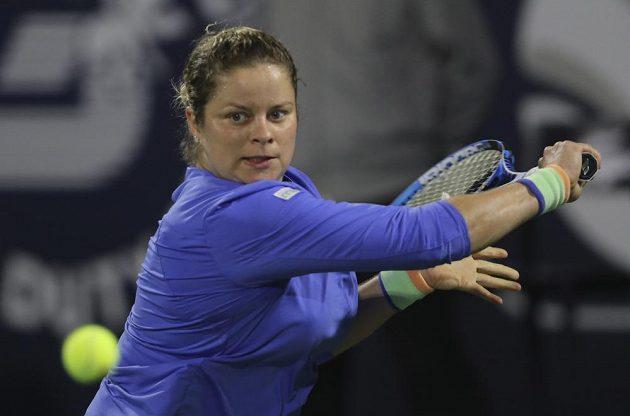 Čtyřnásobná grandslamová šampionka Clijstersová v akci.