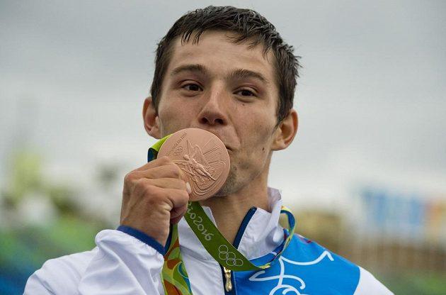 Jiří Prskavec s bronzovou medailí.