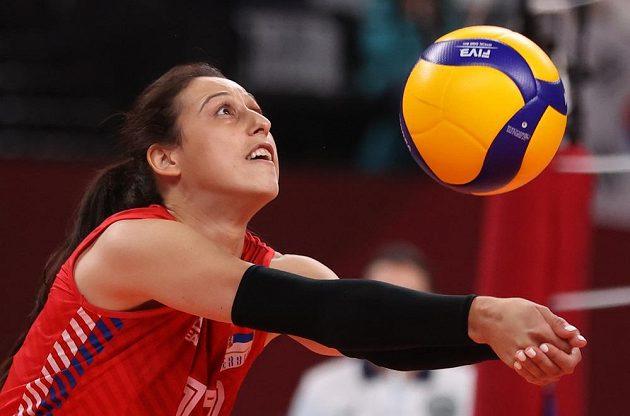 Silvija Popovičová ze Srbska v akci.