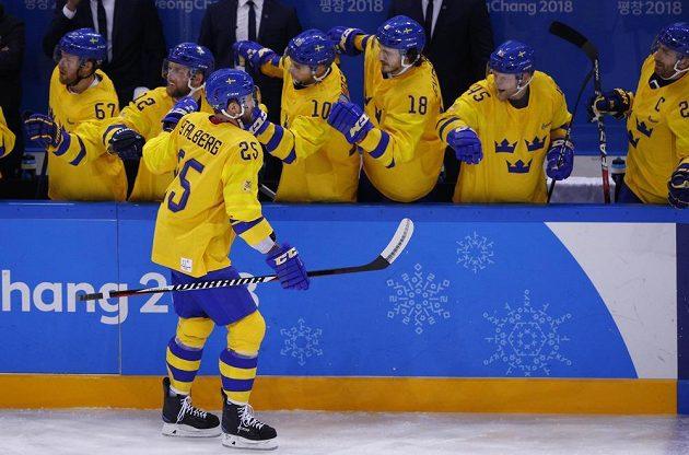 Švédským hokejovým hrdinou je v pátek Viktor Stalberg. Jeho gólem zdolali Švédové výběr Německa těsně 1:0.