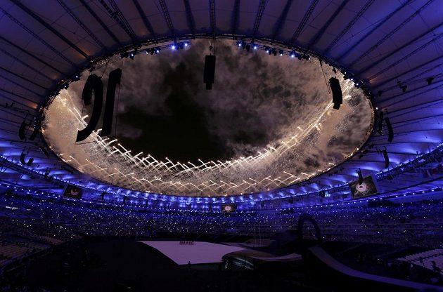 Scéna ze zahájení paralympiády v Riu.