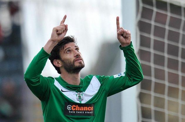 Autor prvního gólu Daniel Silva Rossi z Jablonce.