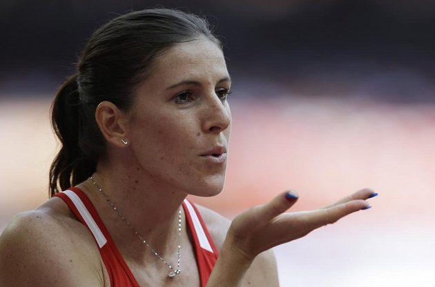 Zuzana Hejnová před svým prvním během na mistrovství světa v Pekingu.