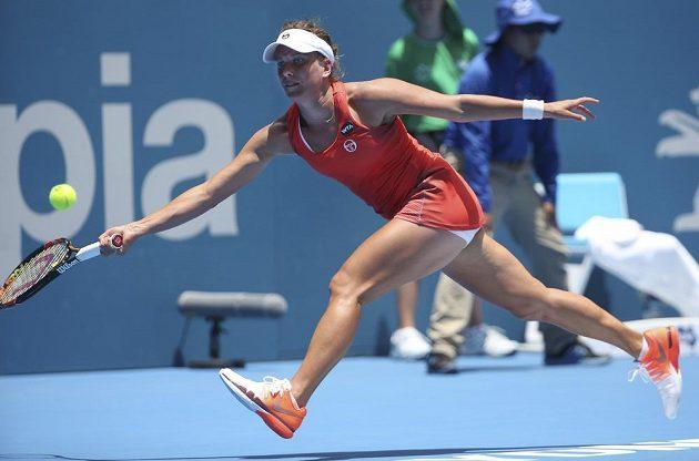 Česká tenistka Barbora Strýcová dohrála na turnaji v Sydney v semifinále.