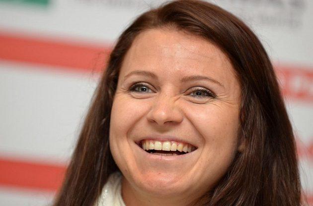 Česká dvojka Lucie Šafářová před finále finále Fed Cupu proti Německu.