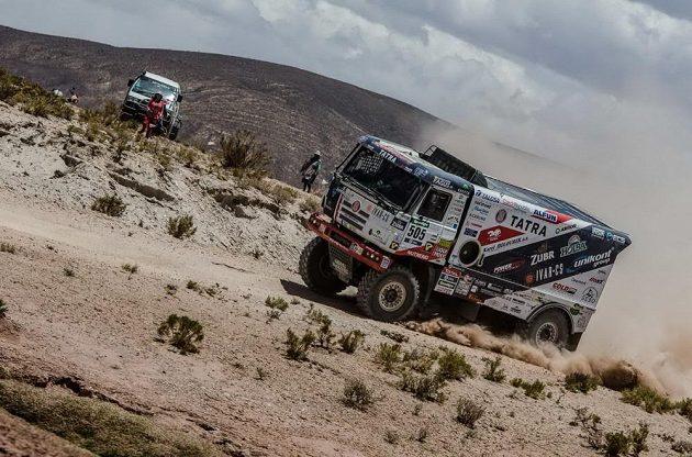 Český jezdec Martin Kolomý během 6. etapy Rallye Dakar.