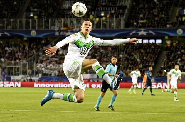 Wolfsburský Julian Draxler během úvodního čtvrtfinále LM proti Realu Madrid.