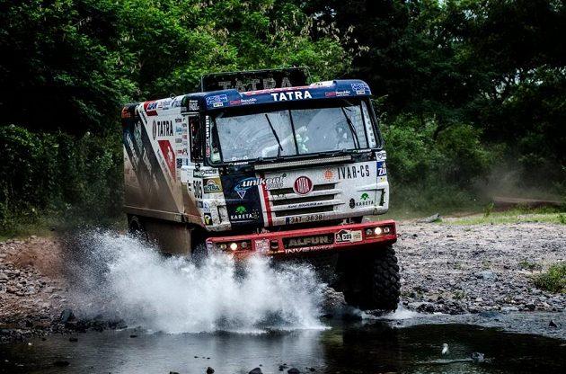 Martin Kolomý na trati 3. etapy Rallye Dakar.
