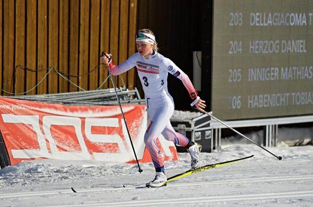 Barbora Havlíčková, šestnáctiletá naděje českého klasického lyžování.