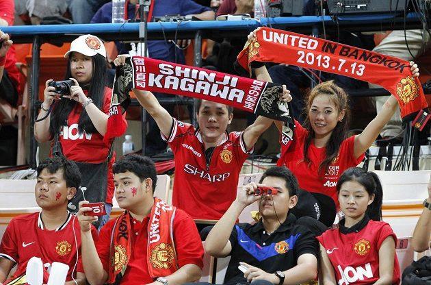 Fanoušci Manchesteru United v hledišti.
