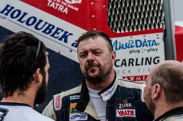 Jaroslav Valtr v bivaku po dojezdu 8. etapy Rallye Dakar.
