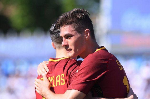 Patrik Schick přidal třetí gól AS Řím proti SPALu.