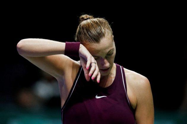 Petra Kvitová byla po utkání hodně zklamaná