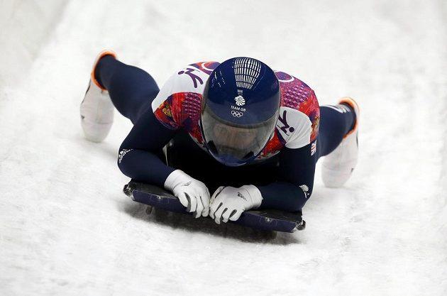 Britka Elizabeth Yarnoldová vyhrála závod ve skeletonu.
