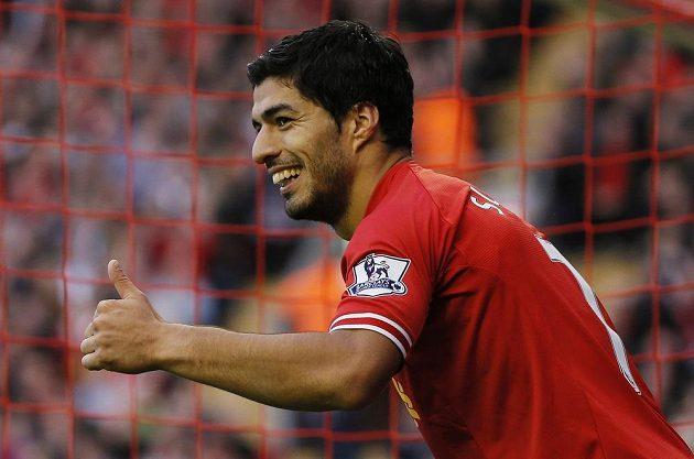 Útočník Liverpoolu Luis Suárez.