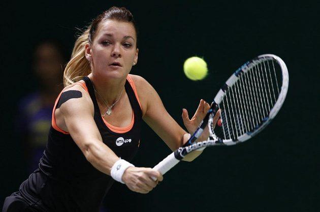 Polská tenistka Agnieszka Radwaňská v utkání proti Petře Kvitové.