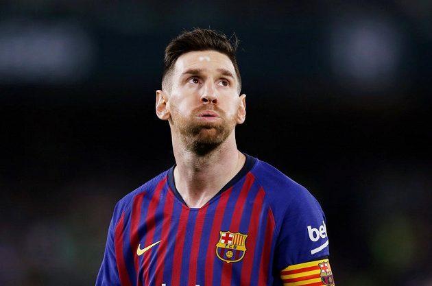 Barcelonský Lionel Messi se sice netváří šťastně, opět se ale zapsal mezi střelce gólů.