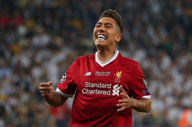 Reakce Roberta Firmina z Liverpoolu během finále Ligy mistrů.