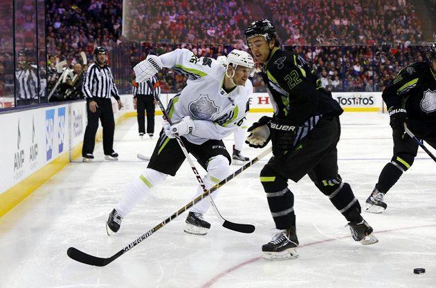 Patrik Eliáš (vlevo) v Utkání hvězd NHL.