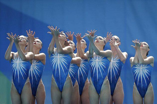 Synchronizované vítězné Rusky.