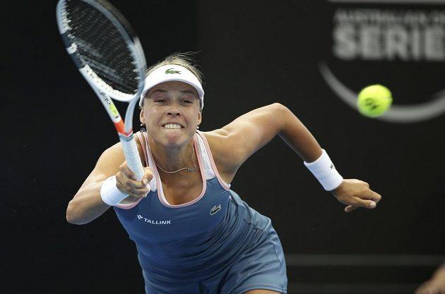 Estonská tenistka Anett Kontaveitová vyhrála v Brisbane po boji nad Petrou Kvitovou.