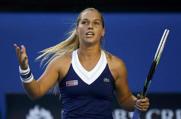 Slovenská tenistka Dominika Cibulková během finále prvního grandslamu sezóny.