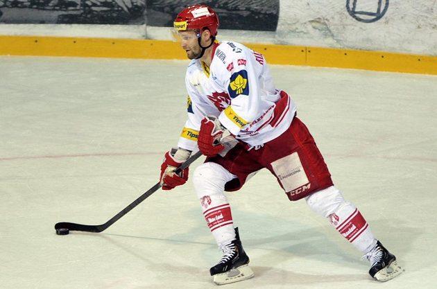 Útočník Martin Růžička přispěl k vítězství Třince třemi asistencemi.