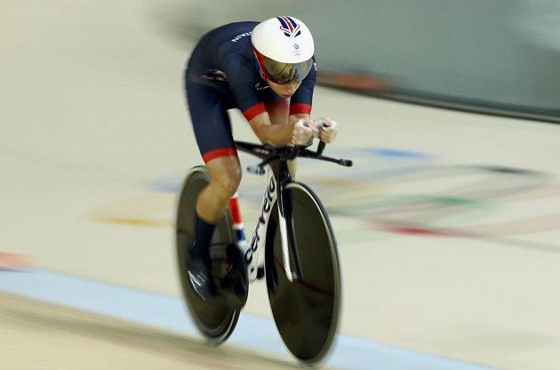 Britka Laura Trottová během olympijského závodu v keirinu.