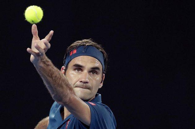 Roger Federer v akci.