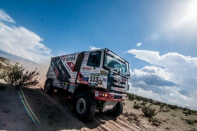 Jaroslav Valtr na trati 8. etapy Rallye Dakar.