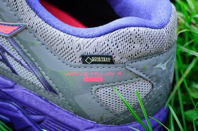 Trailové běžecké boty Mizuno Wave Mujin 4 G-TX: detail paty.