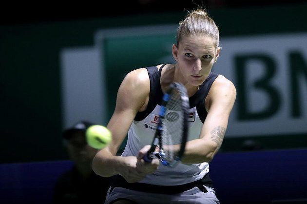 Česká tenistka Karolína Plíšková vstoupila do Turnaje mistryň na výbornou, ve svém úvodním zápase udolala Španělku Muguruzaovou.