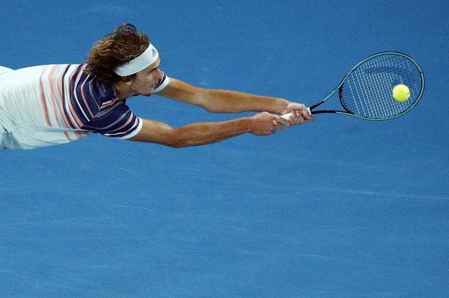 Němec Alexander Zverev v semifinále Australian Open.