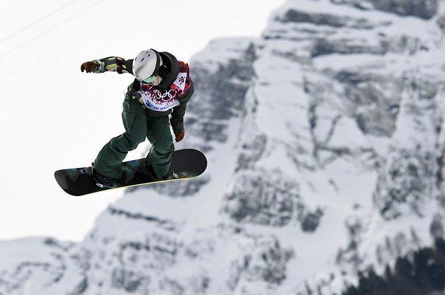 Šárka Pančochová při semifinále slopestylu na hrách v Soči.