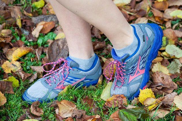 Trailové běžecké boty Mizuno Wave Mujin 4 G-TX: Pěknou barevnou kombinaci ocení každá žena.