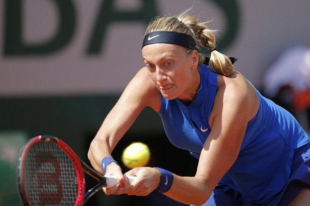 Petra Kvitová v utkání 2. kola grandslamového French Open v Paříži.
