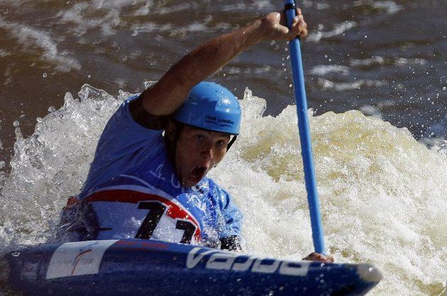 Jiří Prskavec ve finálovém závodu kategorie K1.