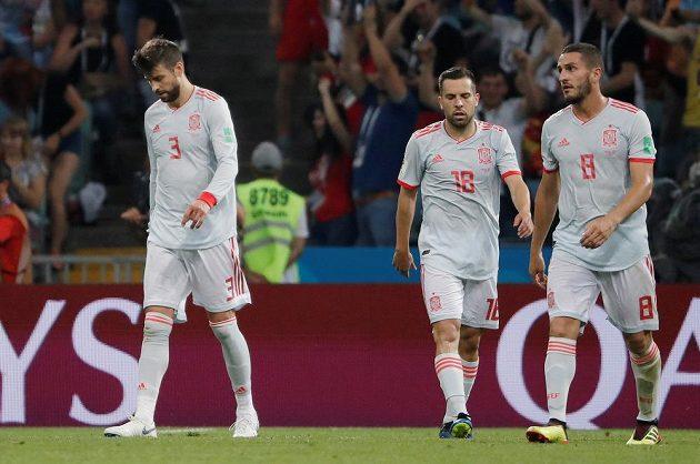 V poločase utkání s Portugalskem na MS byli fotbalisté Španělska hodně skleslí.