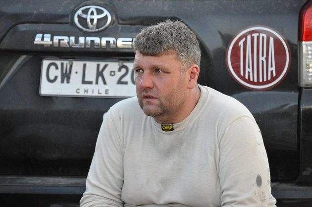 Martin Kolomý v cíli etapy.