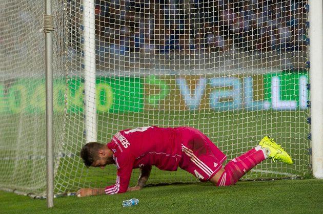 Stoper Realu Madrid Sergio Ramos v utkání proti San Sebastiánu.