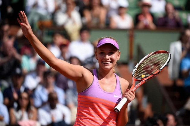 Chorvatská tenistka Dona Vekičová.
