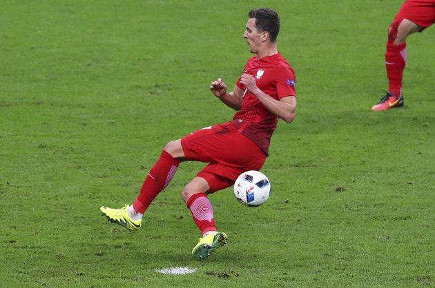 Polský útočník Arkadiusz Milik během zápasu s Německem zahodil několik šancí.