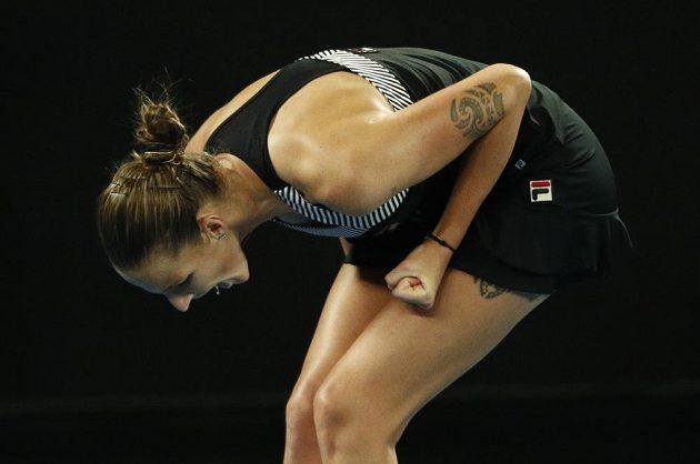 Karolína Plíšková slaví postup do osmifinále