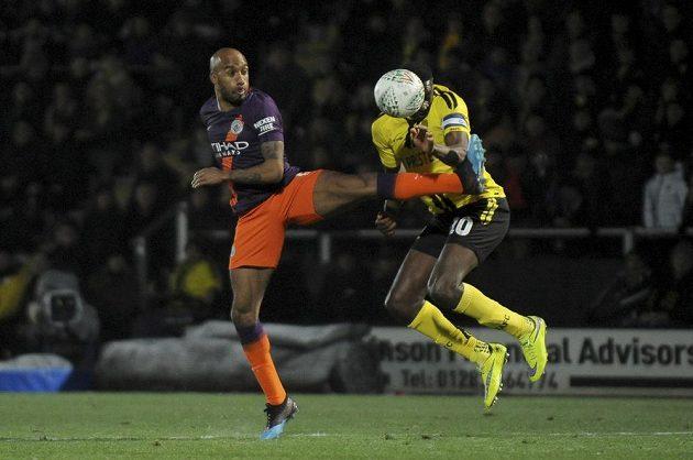 Třetiligový Burton se sice proti fotbalistům Manchesteru City v odvetě semifinále Ligového poháru snažil, ale stejně prohrál 0:1.