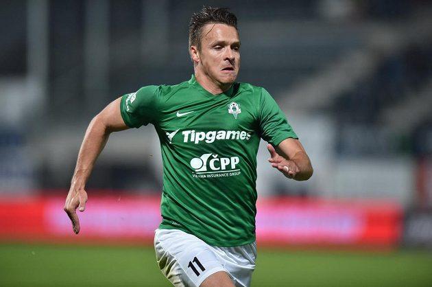 Jablonecký útočník Stanislav Tecl nedal proti Mladé Boleslavi penaltu, poté ale vyrovnal stav zápasu na 1:1.