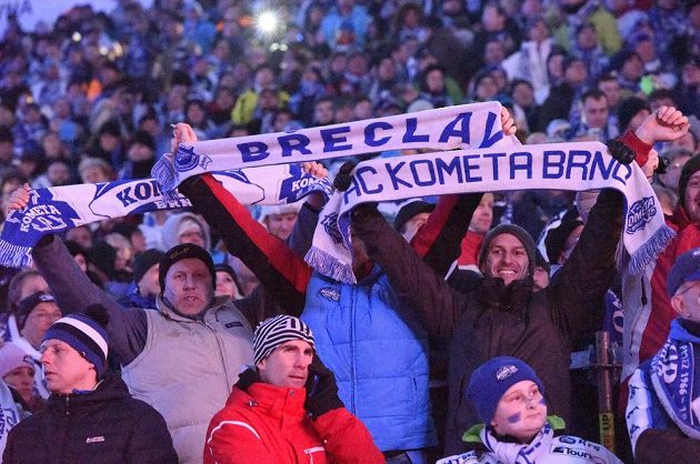 Fanoušci Komety Brno.