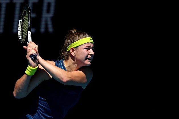 Česká tenistka Karolína Muchová ve druhém setu čtvrtfinále Australian Open rozjela k senzačnímu výkonu.