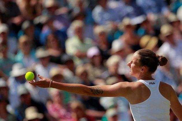 Česká tenistka Karolína Plíšková potvrdila před Wimbledonem skvělou formu.